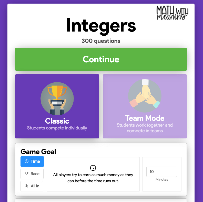 Gimkit is my students' new favorite tech game for math!