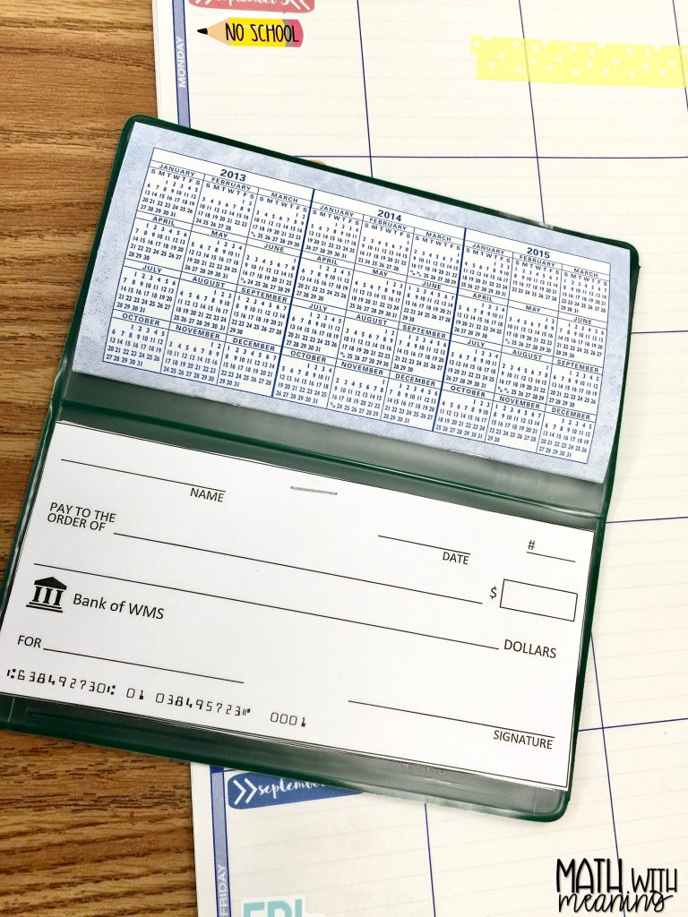 Learn how I set up the banking system for my middle school classroom economy using an online bank and a check template!