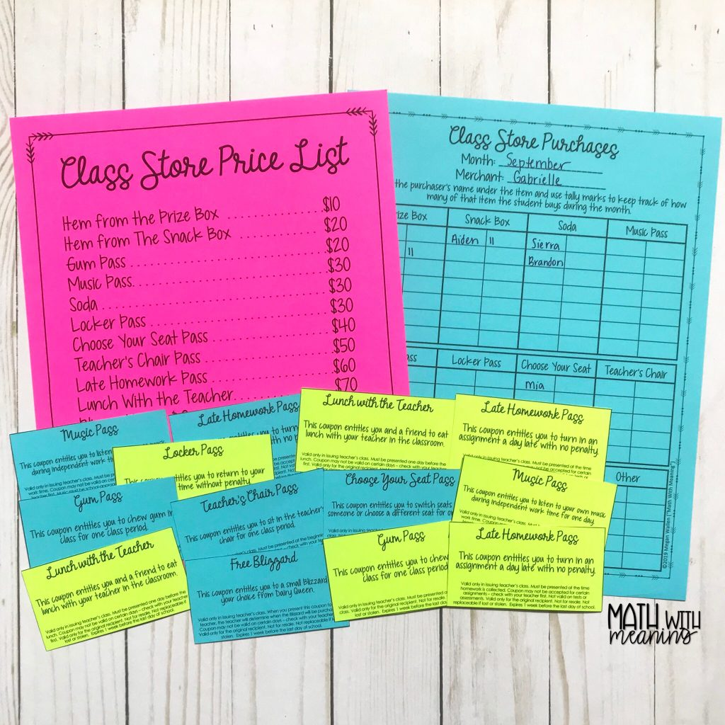 Learn how to set up a classroom store run by students for your classroom economy!