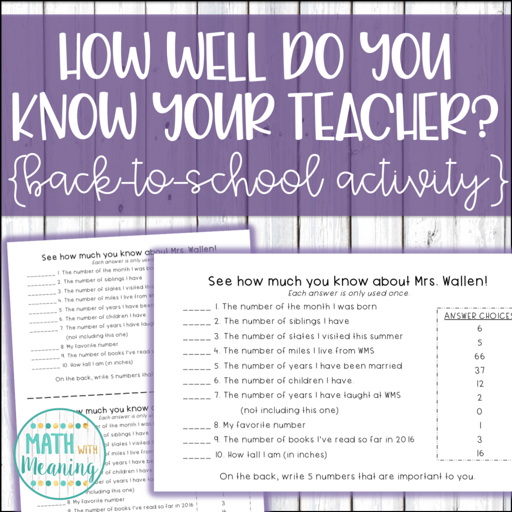 Planning the first day of school can be stressful! Learn my 3 favorite activities that will allow you to have the perfect first day of middle school math!