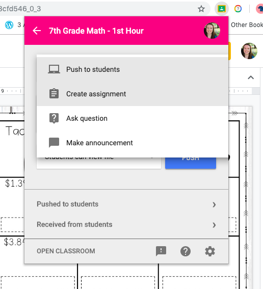 Learn how to save time sharing assignments to Google Classroom with the Share to Classroom extension!